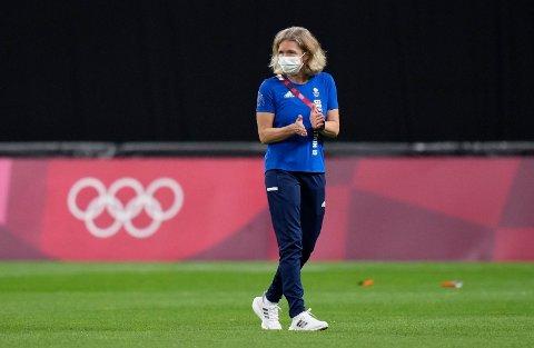 KNUST: OL-eventyret er over for Hege Riise og det britiske kvinnelandslaget i fotball.