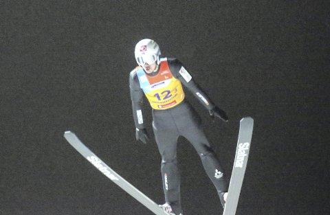 Jr. VM i hopp i Tyskland: Ole Kristian Baarset fra Botne skiklubb skal satse på å bli blant de beste. Nå har han en fjerdeplass fra VM. Foto: Erik Borg
