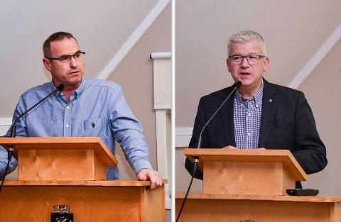 UENIGE: Thorleif Fluer Vikre (t.v.) og Jone Blikra hadde delte meninger om forhandlingstaktikken.