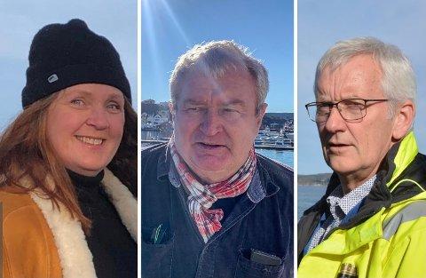 SA NEI: Verken Anita Mjelland (H) eller Per Kristian Nilsen (Ap) ønsket å gå for innstillingen. Havnefogd Svein Arne Walle (t.h.) er fornøyd med et samstemt styre.