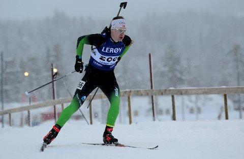 TOPPEN: Martin Femsteinevik gjennomførte ein meget god konkurranse då det blei 2. plass i laurdagens norgescuprenn på Lygna.