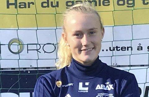 KLAR FOR 1. DIVISJON: hvittingfossjenta Lene Hansen er nå klar for 1. divisjon og Nanset IF. (FOTO: NANSET IF)