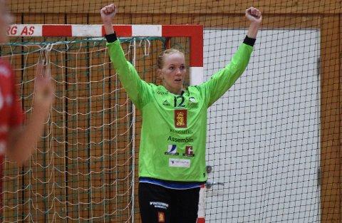 GOD: Karoline Warloff var en av Skrims beste spillere i åpningskampen mot Fana forrige helg. Søndag skal hun hamle opp med Linn J. Sulland & co. i Vipers Kristiansand.