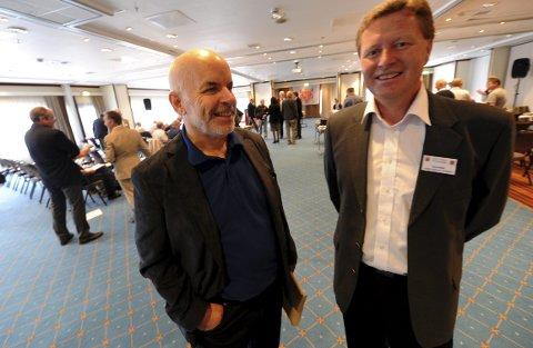 FIKK NEI: Odd-Bjørn Vatne (t.v.) og John Melvin Tveiten fikk nei, da de ville ha Landsskytterstevnet til Kongsberg i 2015.