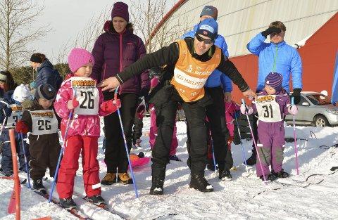 Leder i Leknes Skiklubb, Inge-Harald Olsen, var storfornøyd med oppmøte på det andre av fire renn i skicupen.