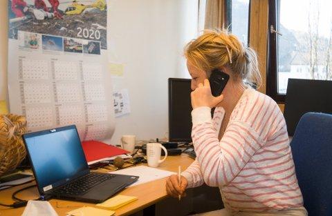TESTE: Kommuneoverlege Henriette Pettersen må lage et opplegg for hvordan Lyndal kommune skal klare å teste 500 mennesker for korona hver uke.