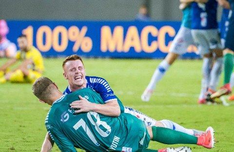 ELLEVILL KVELD: Tobias Heintz ble avgjørende for Sarpsborg 08, som nå er i Europa League-gruppespillet.