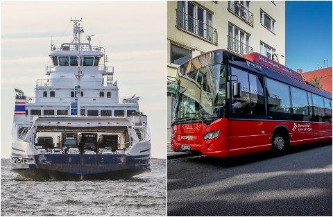 UENIGHETER: Dersom ikke partene kommer til enighet før fristen ved midnatt vil ansatte i Bastø Fosen og i busselskapene bli tatt ut i streik.
