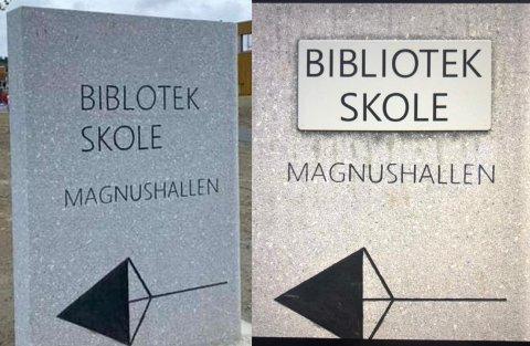 Fredag delte Frosta bibliotek bildet til høyre, som viser at de nå har rettet opp feilen.