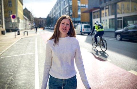 VARSLER ØKT SATSING: Inger Mari Eggen, mobilitets- og samferdselssjef i Trondheim kommune, varsler at sykkelmål ikke vil nås, men at satsingen er styrket.