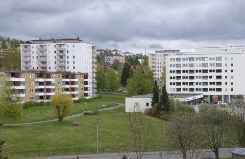 SKØYENÅSEN: På grøntområdet ved senteret har det lenge vært planer om barnehage. Nå har bystyret sagt ja. Arkivfoto: Nina Schyberg Olsen