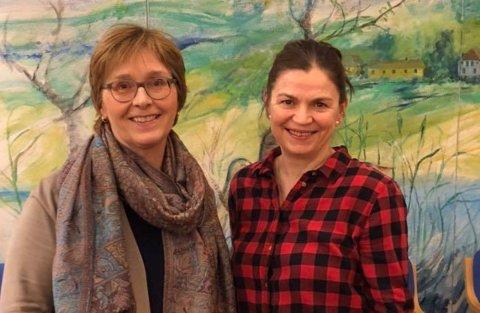 LEDER OG FØRSTEKANDIDAT: Ann Nordal (t.v.) er Østensjø SVs nye styreleder, mens Hanne Eldby er lokalpartiets førstekandidat på bydelslista foran lokalvalget 2019. Foto: ØSTENSJØ SV
