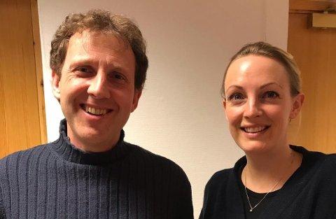 1. og 2. kandidat Østensjø KrF: Ole Andreas Gjerull og Silje Helene Farner-Calvert