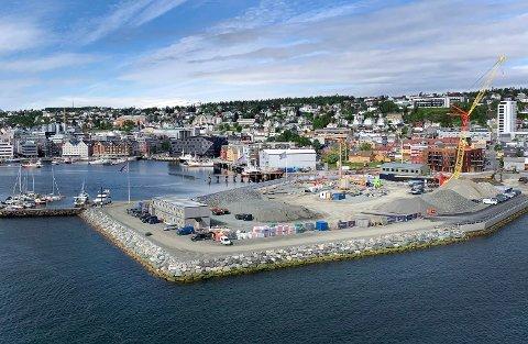 NY BYDEL: Her skal bydelen Vervet reise seg de neste årene. Foto: Stian Saur