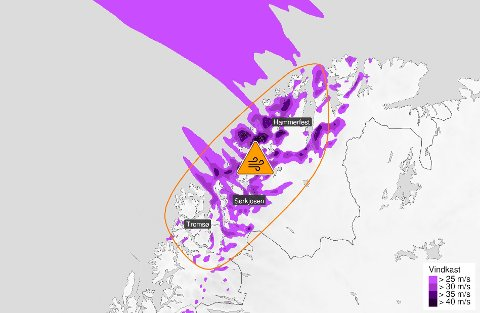 FAREVARSEL: Meteorologisk institutt har sendt ut farevarsel for helga.