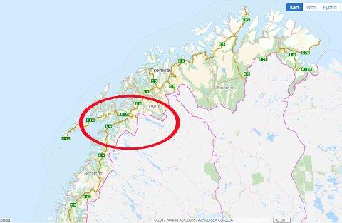 HER VIL SLAGET STÅ: De siste ukene har det vært hektisk møteaktivitet i de ulike partiene i Nord-Norge: Hvor skal Nord-Norge deles i to. Diskusjonen rundt innbyggernes middagsbord nok starter for fullt i påsken. Slaget vil trolig stå i Ofoten-regionen, mellom en Nordland-region og et stor-Troms/Finnmark.