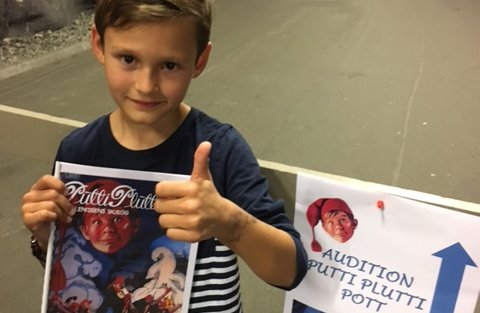 Glad: Robin Moen Øversveen skal spille Petter i musicalen om Putti Plutti Pott. Foto: Privat.