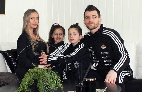 BLIR PAPPA: Rocky Lekaj, barna Ledion og Emma og kona Blerta gleder seg til familieforøkelse.