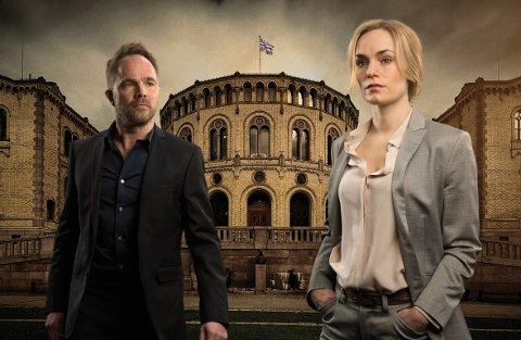 EMMY-VINNER: Mammon 2 med Peter (Jon Øigarden) og Ellen (Laura Christensen) i hovedrollene vant natt til tirsdag Emmy for beste internasjonale dramaserie.