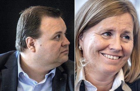 TO PÅ TOPP: Thomas Sjøvold (t.v.) og Anne Kristine Linnestad topper høyres liste foran det kommende valget.