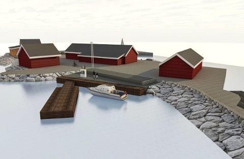 Hele sjøfronten: Slik vil den nye sjøfronten i Nevlunghavn se ut når alt er på plass.