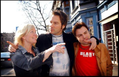 POPGRUPPE: Da Buzz er også klare for Elverum. Fra venstre: Annika Törnkvist, Per Lidén (i midten) og Pier Schmid. (Foto: Heiko Junge / SCANPIX)