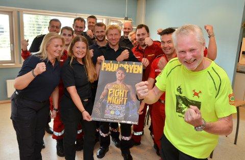 KLAR FOR MATCH: - Vi skal gi lyd fra oss, Robert, lover Stein Gunnar Frostrud ved Midt-Hedmark brann og redning. Over 100 kolleger med følge har bestilt billetter til Terningen Arena.