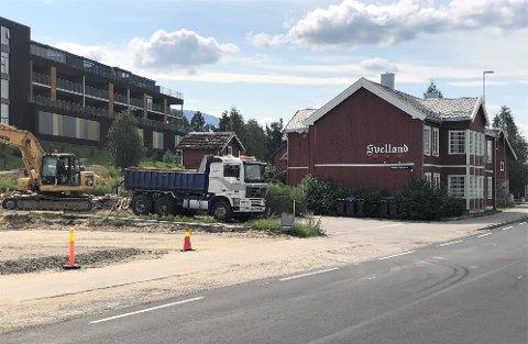 NYTT BYGG: Svelland Eiendom AS skal sette opp et nytt bygg her i Kongsveien 4.