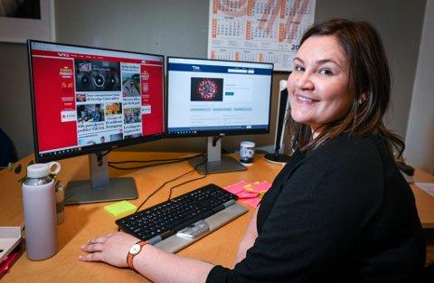 Gretel Westman (29) og kollegene høster inn nettsider om korona for framtiden.