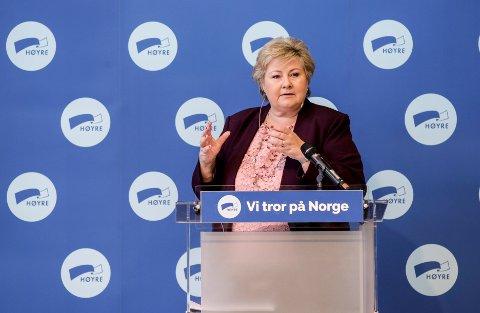 Oslo 20200607.  Statsminister Erna Solbergs innledning på Høyres sentralstyre i Oslo. Foto: Vidar Ruud / NTB scanpix