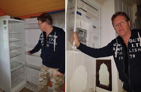 UTEN STRØM: Lasse Rom er uten strøm på andre uka i huset i Åsmarka.