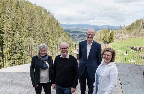Utsiktens venner sammarbeider med Kleivstua. Torunn Bratli, Ola Ø. Hoel, Erik Teigen og Olga Alexandra Holter.