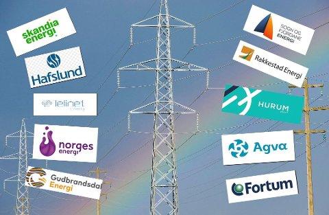 Stort utvalg: Over 100 selskaper konkurrerer om å selge strøm. Mange av dem tilbyr også en rekke ulike avtaler. Akkurat nå kan du velge mellom 155 forskjellige spotprisavtaler i Oslo. Kollasj: Geir A. Carlsson