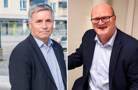 ENIGE: Daglig leder Philip van de Velde (til høyre) ser ikke noe i veien for at Betonmast Ringerike kan samarbeide med Haakon Tronrud og Tronrud Eiendom i framtiden.