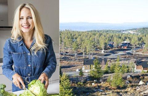 HYTTEEIER: Emilie Nereng fra Hønefoss håper den nye hytta på Lygna vil være innflyttingsklar i januar - om hun har litt flaks.