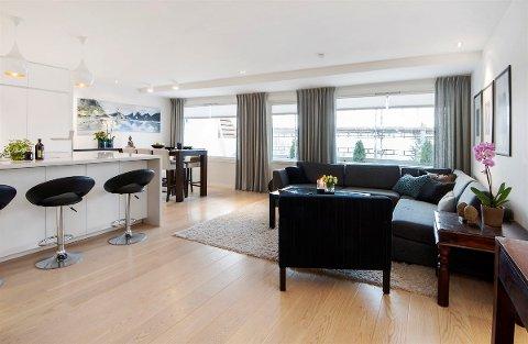 BYGGET OM: Den tidligere eieren, som er håndverker, har brukt 1,5 millioner kroner på å bygge om leiligheten i Blystadlia.