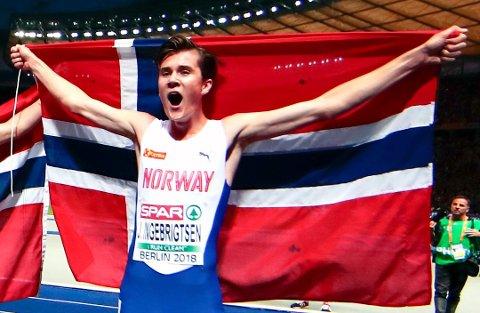 Dobbelt EM-vinner Jakob Ingebrigtsen er blant stjernene som deltar i norgesmesterskapet.