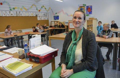 Initiativtaker: Sosiolog Anita Fevang har testet ut verdsettelsens fem språk på elever ved 3. og 5. trinn på Helgerød skole.