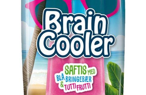 HJERNE-KJØLER: Braincooler fra Diplom-Is kommer i to versjoner. På pinne eller i pose.
