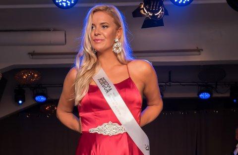 SKUFFET: Rebecca Bjørk (25) mener Miss Norway-konkurransen dreier seg mer om utseende enn det de promoterer for selv. Hun mener viktigheten av veldedighetsarbeidet deltakerne gjør blir kastet til side i selve finalen.