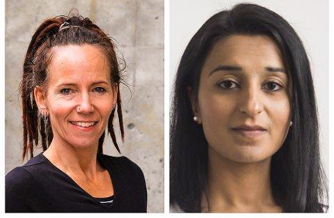 DISKUSJON: Sunniva Gylver (t.v.) og Bushra Ihsaq møtes til debatt onsdag kveld.