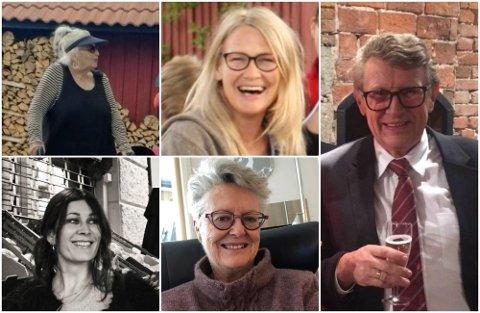 OMKOM: Gun Marith Madsen, Hanne Merethe Englund, Gunnar Erling Sauve, Andréa Meyer og Liv Berit Borge omkom etter å ha blitt angrepet i Kongsberg.