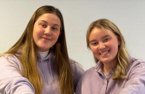 BUSINESS: Anna Berger (18) og Sarah Feiner Høyland (18) har laget et produkt som de fleste kan dra nytte av - spesielt i nå som det drar seg mot sommeren ...