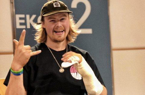 Hardhausen Brage Vestavik har grunn til å smile etter helgens europacup – selv om det så mørkt ut etter skade på trening.