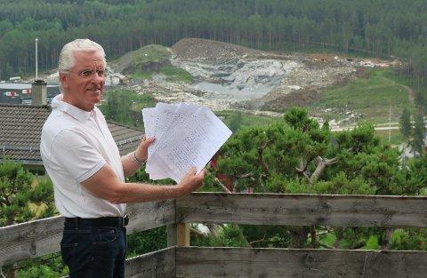 FEKK GJENNOMSLAG: Inge Malm samla 131 underskrifter under kravet om å stoppa steinknuseriet. No har Statsforvaltaren teke klagen hans til følgje.