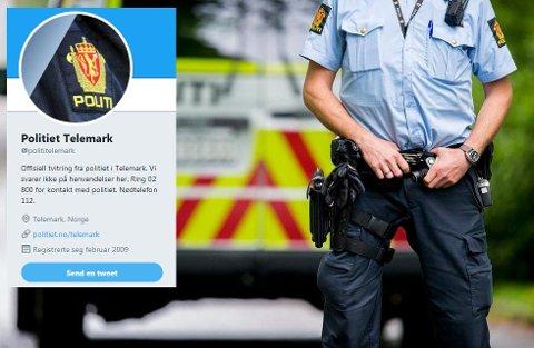 FRAVÆR: Politiet har hatt et merkbart fravær på Twitter de siste månedene.