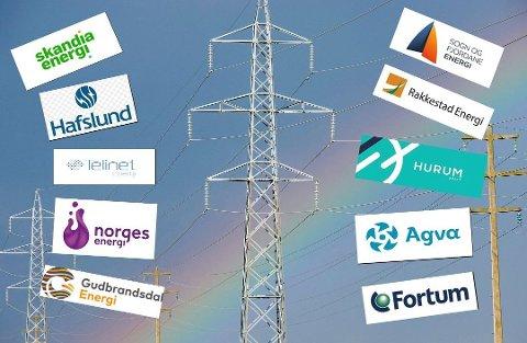 Stort utvalg: En rekke ulike selskaper konkurrerer om å selge strøm. Mange av dem tilbyr også et utall ulike avtaler. Akkurat nå kan du velge mellom over 100 forskjellige spotprisavtaler i Oslo. Foto: Kollasj: Geir A.Carlsson