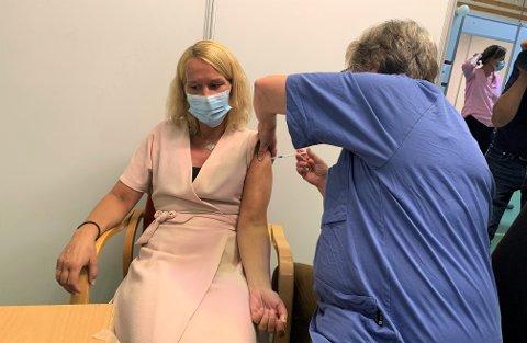 ANDRE DOSE: Hedda Foss Five tok andre dose av vaksinen. Denne gang fikk hun Moderna.