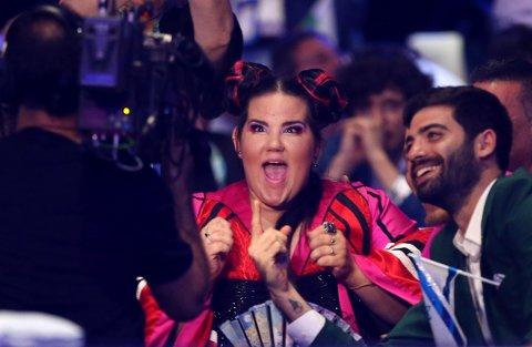 VANT: Netta fra Israel ble kjempeglad da det gikk opp for henne at hun vant årets Melodi Grand Prix.