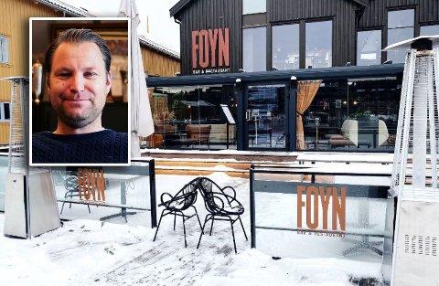 TILBAKE: Slik har det sett ut hos Foyn siden før jul, men fra tirsdag er restauranten åpen igjen.
